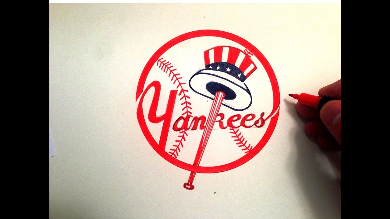 How To Draw The Yankees Logo Youtube