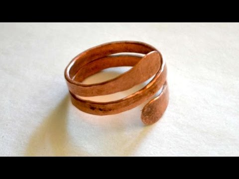 How To Make A Hammered Mens Copper Ring - DIY Style Tutorial - Guidecentral