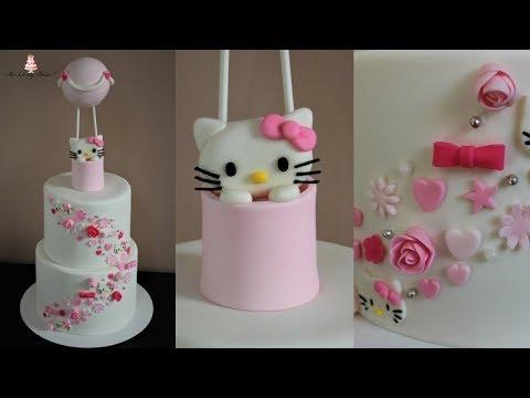 Hello Kitty Hot Air Balloon Cake Tutorial!