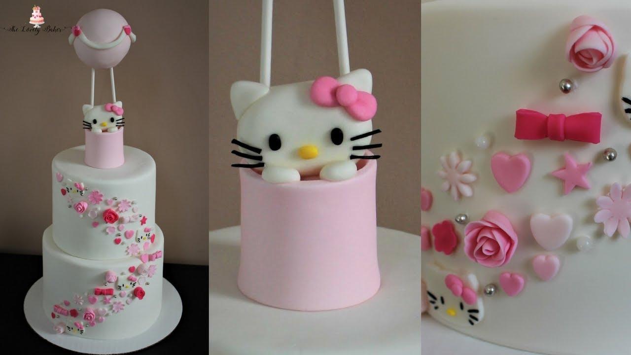 Hello Kitty Hot Air Balloon Cake Tutorial YouTube