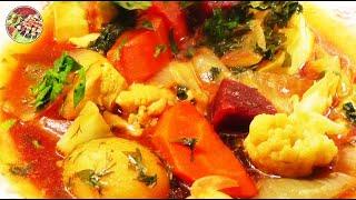 Летнее овощное рагу с куриной грудкой. Просто, вкусно, недорого.