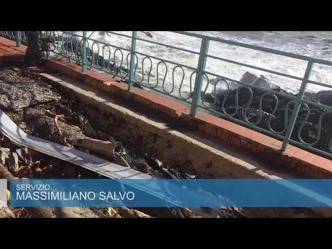 Genova, devastata la passeggiata di Nervi