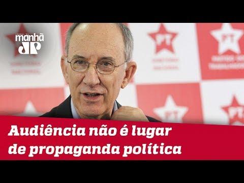 Moro Interrompe Rui Falcão E Diz Que Audiência Não é Lugar De Propaganda Política