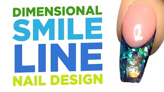 Young Nails Nail Demo - Dimensional Smile Line Nail Design - Acrylic Nails