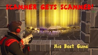 TRASH **SCAMMER GETS SCAMMED** Fortnite Save The World PAYBACK #1