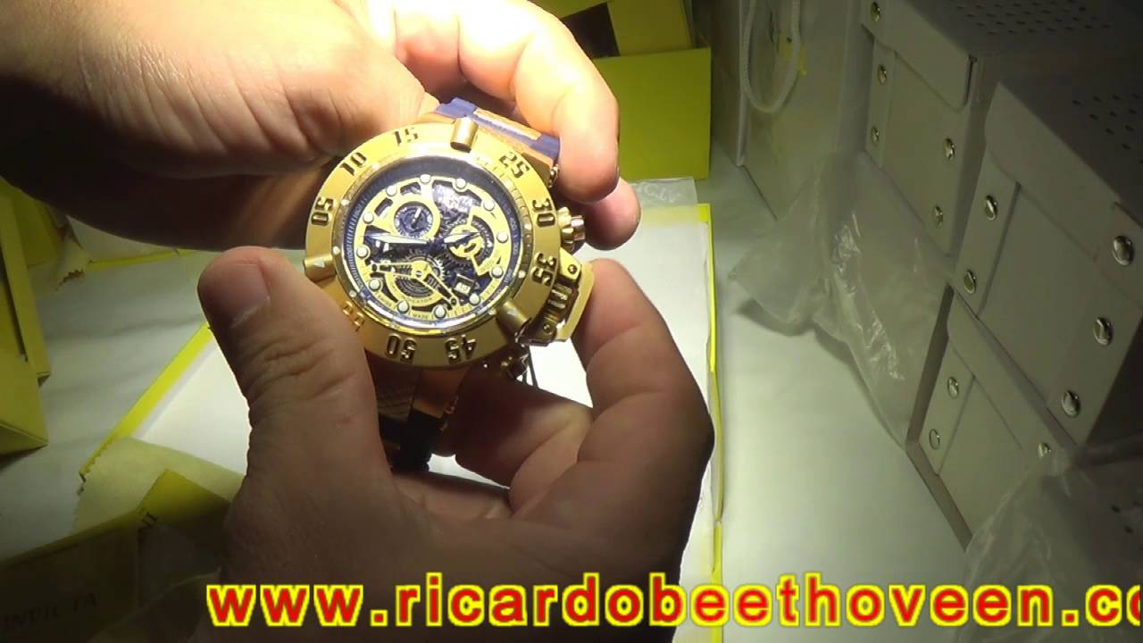 9affbd2ac04 Invicta Subaqua Noma 3 Skeleton 15827 completo original - YouTube