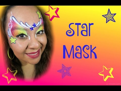 Star Mask Face Painting Tutorial