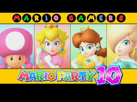 Mario Party 10 - Airship Central (Toadette, Peach, Daisy & Rosalina)
