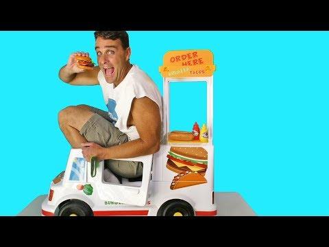 Tacos & Burgers Motorized Ride On Food Truck !  Toy   Konas2002