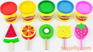 Learn Colors with Play Doh Popsicles for Toddlers Children Kinder Sursrise Eggs Baby Finger Song