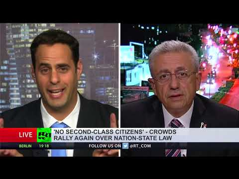 'Law makes Israel officially chauvinistic state' vs 'Israel most vibrant democracy in Middle East\'