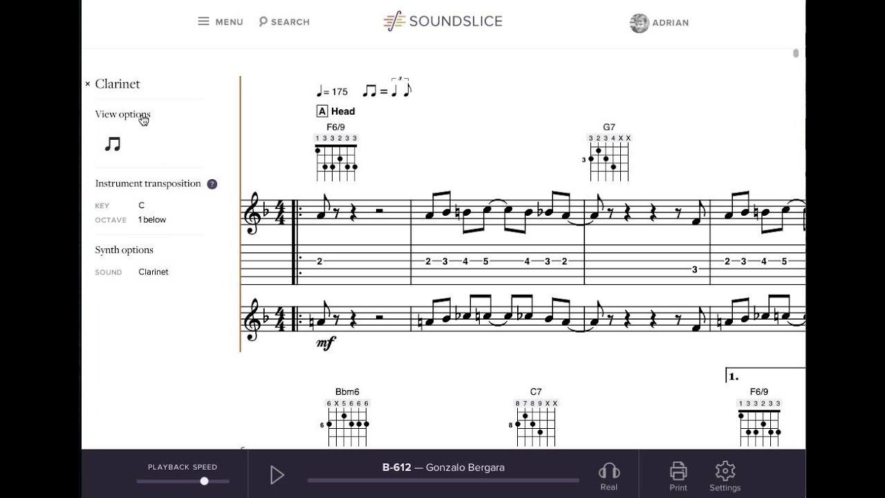 Transposing instruments | The Soundslice Blog