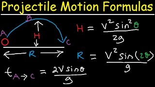 Projectile Motion Introduction - Formulas & Equations to Solve Physics Problems