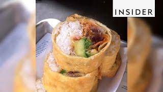 Deep-fried sushi burrito thumbnail