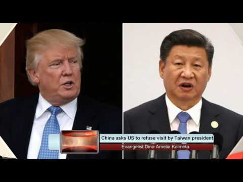 China asks US to refuse visit by Taiwan president