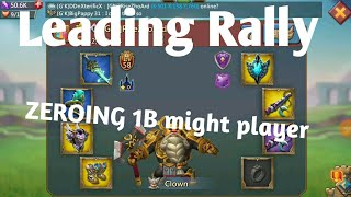 lords mobile leading rally, zeroing 1 B might player, grassion trap, solo hits by I Am Naveen