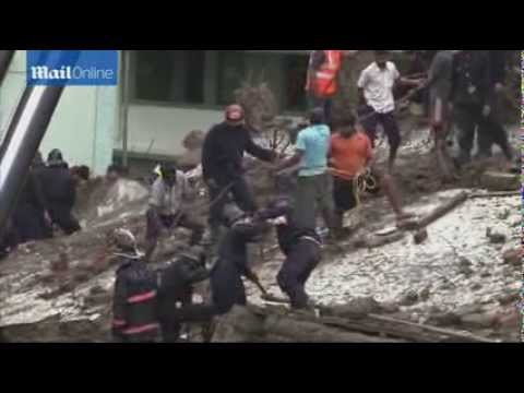 Building collapses in India leaving up to 90 trapped in rubble