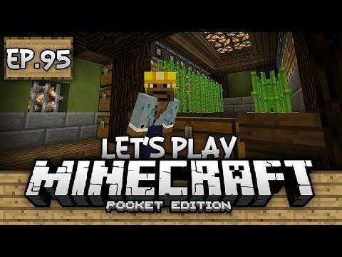 Survival Let's Play Ep. 95 - HORSE TRIALS & AUTO SUGARCANE FARM!!! - Minecraft PE (Pocket Edition)