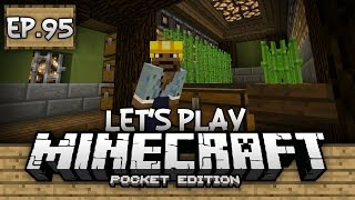Survival Let's Play Ep. 95 - HORSE TRIALS & AUTO SUGARCANE FARM!!! - Minecraft PE (Pocket Edition)