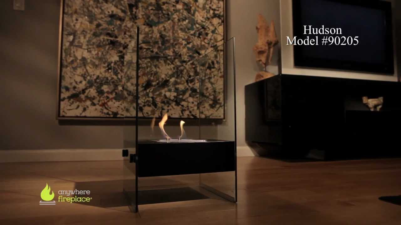 anywhere fireplace hudson model bio ethanol fireplace youtube