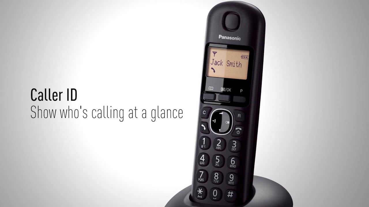 Panasonic Kx Tgb210 Cordless Telephone Youtube