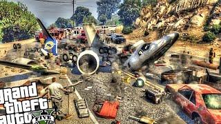 epic plane crash disaster gta 5 pc mod