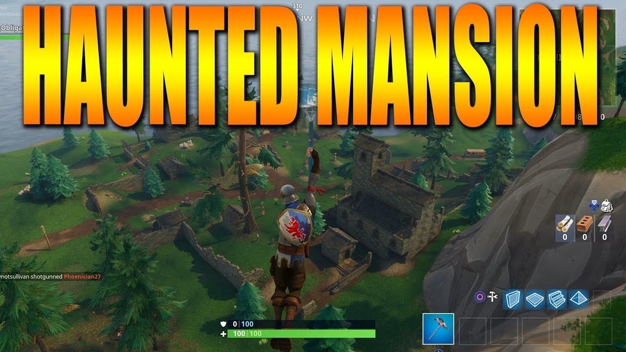 new haunted mansion fortnite battle royale new update gameplay - haunted mansion fortnite season 7