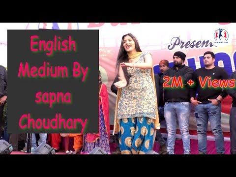 English Medium By Sapna Choudhary In Morena || Jhankaar 2018 || Burning Sun