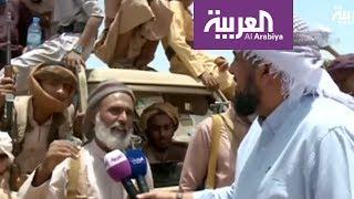 كاميرا العربية توثق تطهير جبل مرثد في صرواح اليمنية