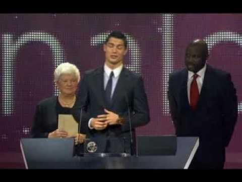"Cristiano Ronaldo talks about his award:FIFA Puskas Award for 2009's ""most beautiful goal"""