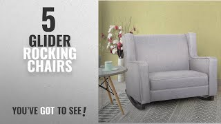 Top 10 Glider Rocking Chairs [2018]: Esright Gray Fabric Rocker Morden Rocking Chair Comfortable