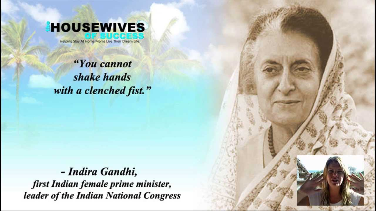 Quotes For Women Video Quotes  Successful Women  Indira Gandhi Quote  Youtube