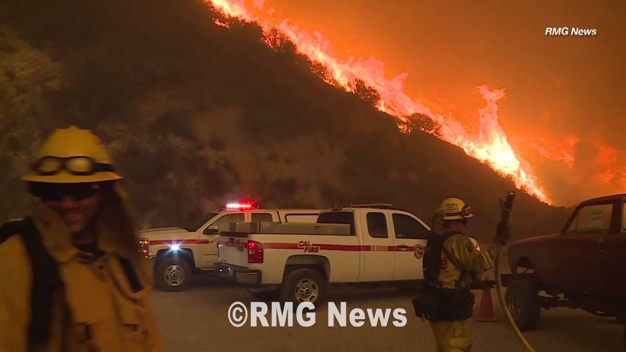 Santa Clarita brush fire dubbed the Sand Fire in California, Day Three