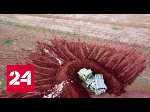 Турецкие военные в Идлибе обстреливают российские самолеты. Репортаж Евгения Поддубного - Россия 24