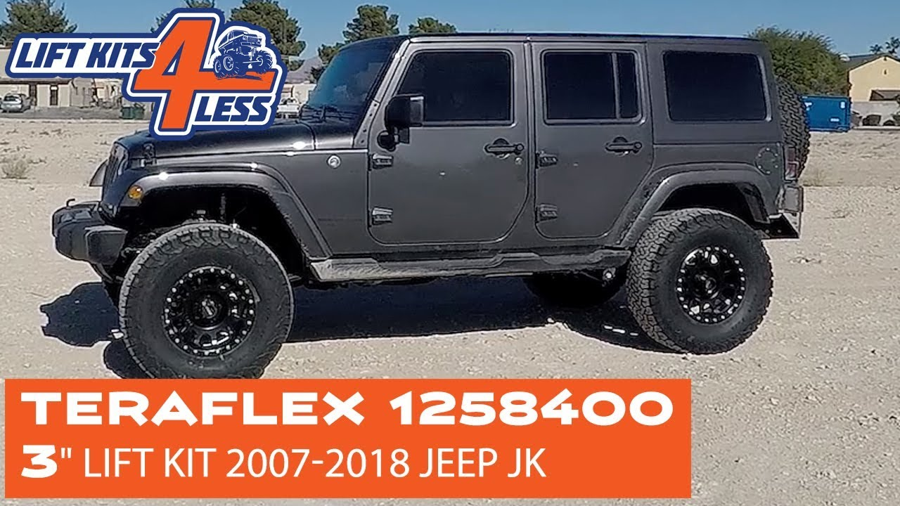 Jeep Jk Lift Kit Teraflex >> Teraflex 1258400 3 Lift Kit Installed On A 2018 Jeep Jk Unlimited