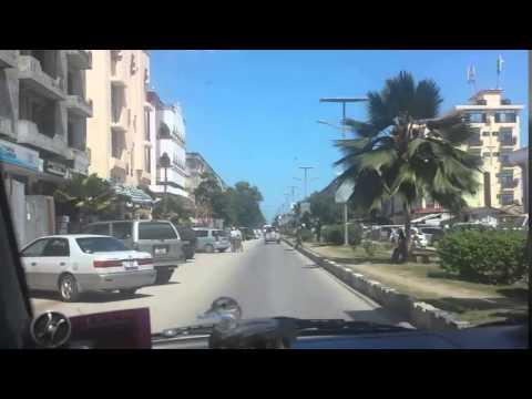 Driving in Stone Town, Zanzibar, Tanzania