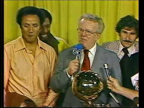 Seattle Supersonics receive the NBA Championship Trophy