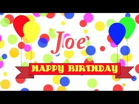 Happy Birthday Joe Song