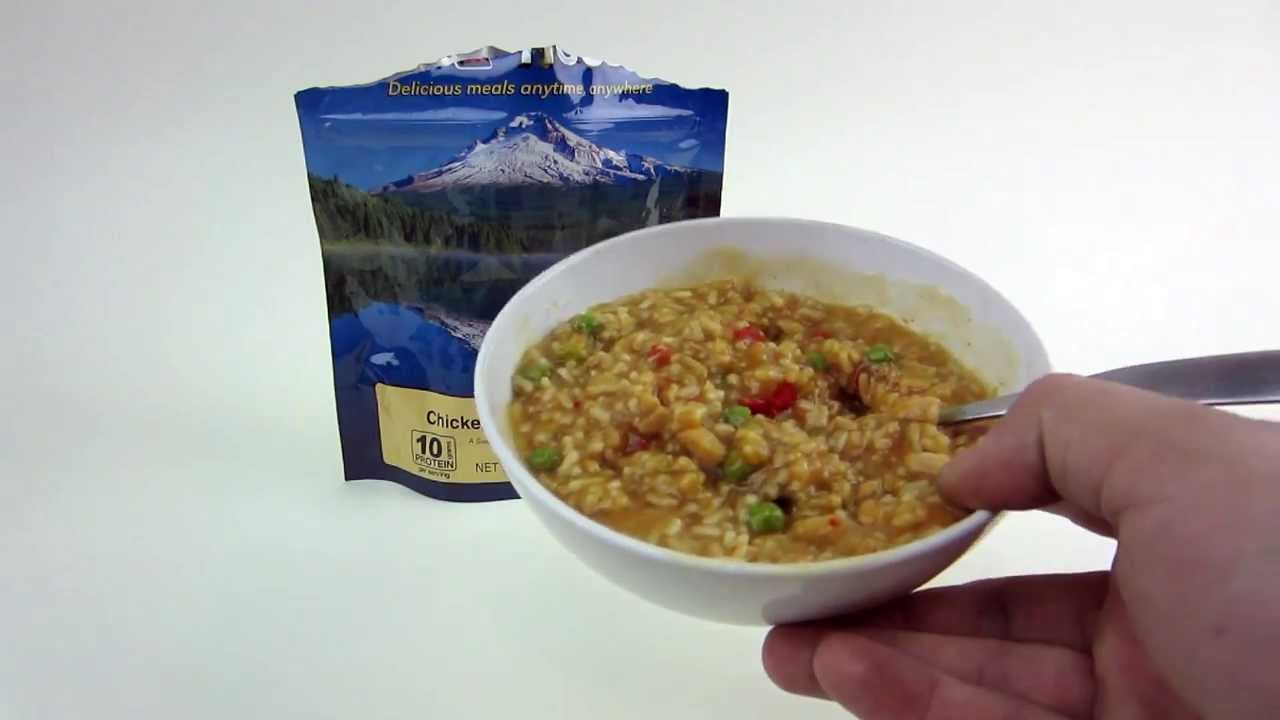mountain house chicken teriyaki with rice pouch freeze