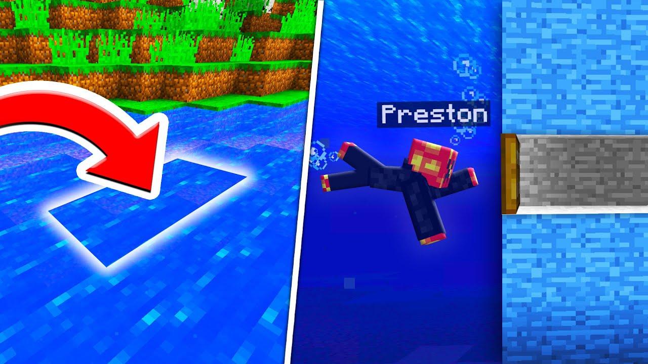Top 10 Secret Underwater Entrances Noob1234 Will Never Find   Preston Minecraft