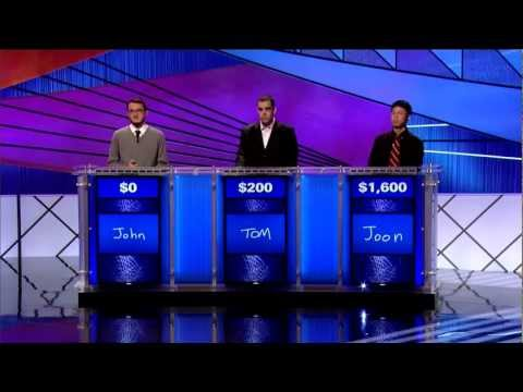 Joon Pahk on Jeopardy! TOC Nov. 4, 2011 Pt 1