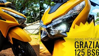 Honda GRAZIA BS6 2020 // NEW Model // MILEAGE, PRICE, Specifications, Top SPEED, Colours