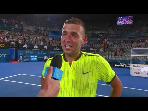 Daniel Evans On Court Interview (SF) | Apia International Sydney 2017