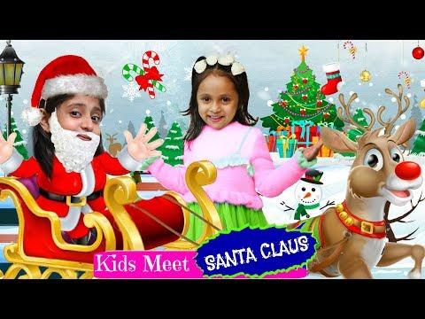 Kids Meet SANTA CLAUS | #Christmas #Gifts #Play #FrozenII #Surprise #MyMissAnand #ToyStars