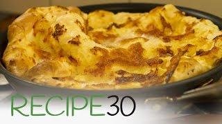 Apple Dutch Baby Pancake Rises Before Your Eyes!