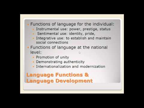 Week 8 Lecture: Language Planning Part 1