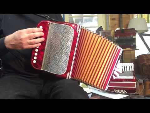 Paolo Soprani Pepperpot button accordion in D, #209 (sold)