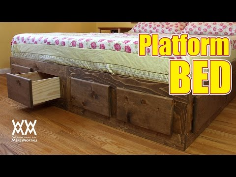 Make a king sized bed frame with lots of storage!