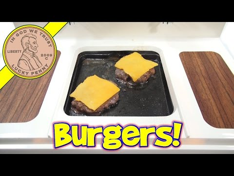 Big Burger Grill, Mini Cheeseburgers & Grilled Cheese! - Miniature Hamburger!