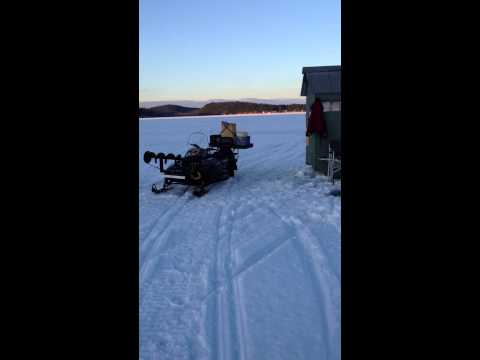 Taylor pond ice fishing Auburn Maine